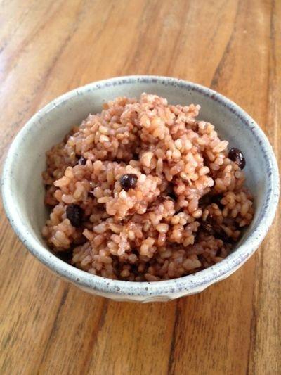 画像1: お米と暮らし◆茨城県産◆有機栽培米◆ミルキークイーン◆玄米+特別栽培小豆◆酵素玄米ごはん◆たっぷりセット
